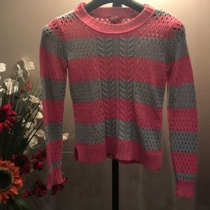 Child pink and grey sweater size xl